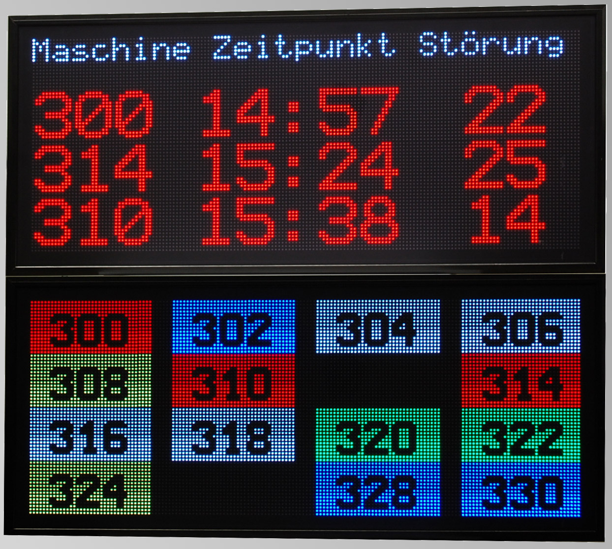 LED Matrix-Display, Störungsanzeige, RGB, Pixel Pitch 6mm, Abmessungen 960x1060x100 mm