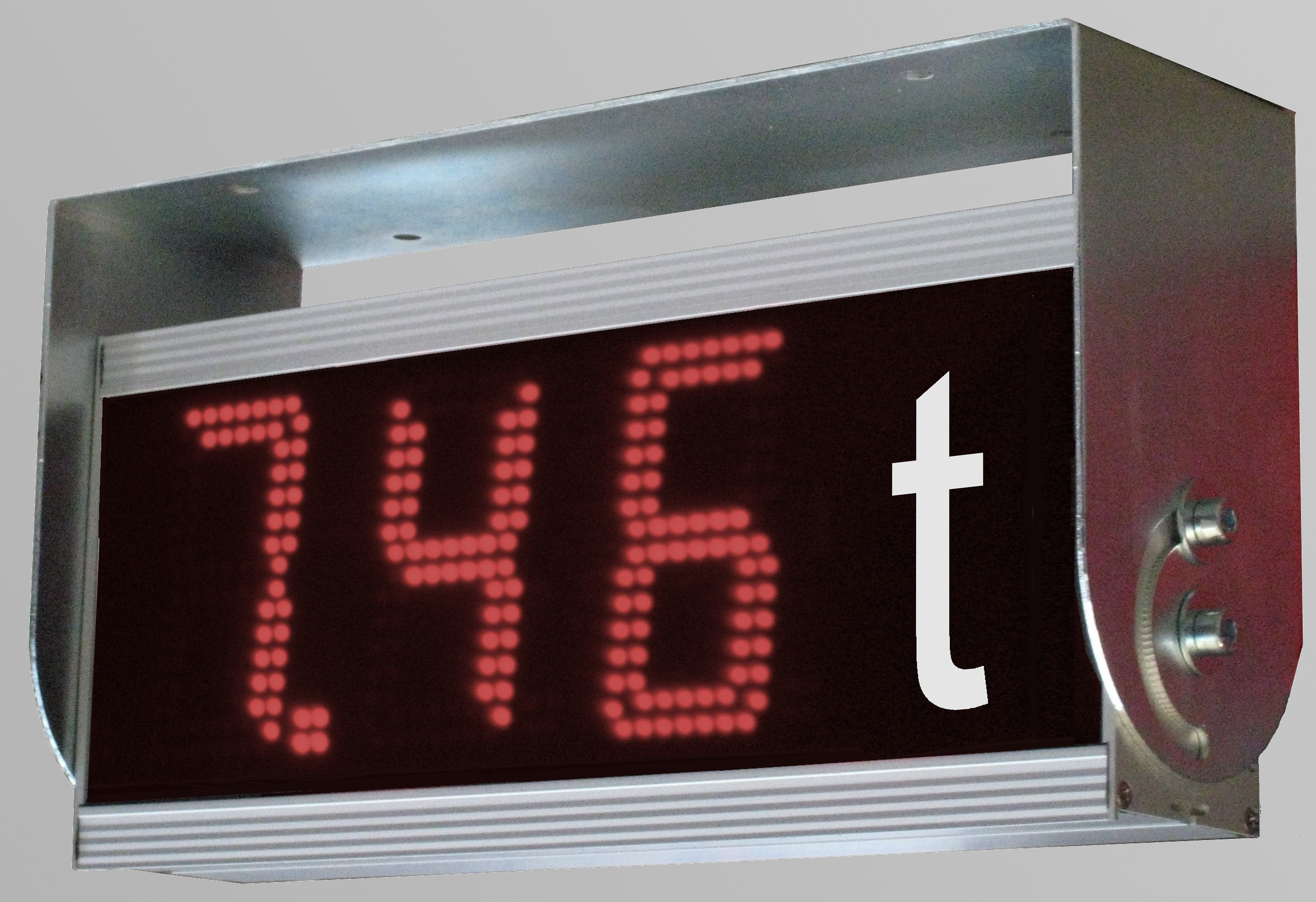 Numeric LED large display incl. mounting brackets, weight measurement, character height 100 mm,  outdoor, dimensions 170x375x80 mm