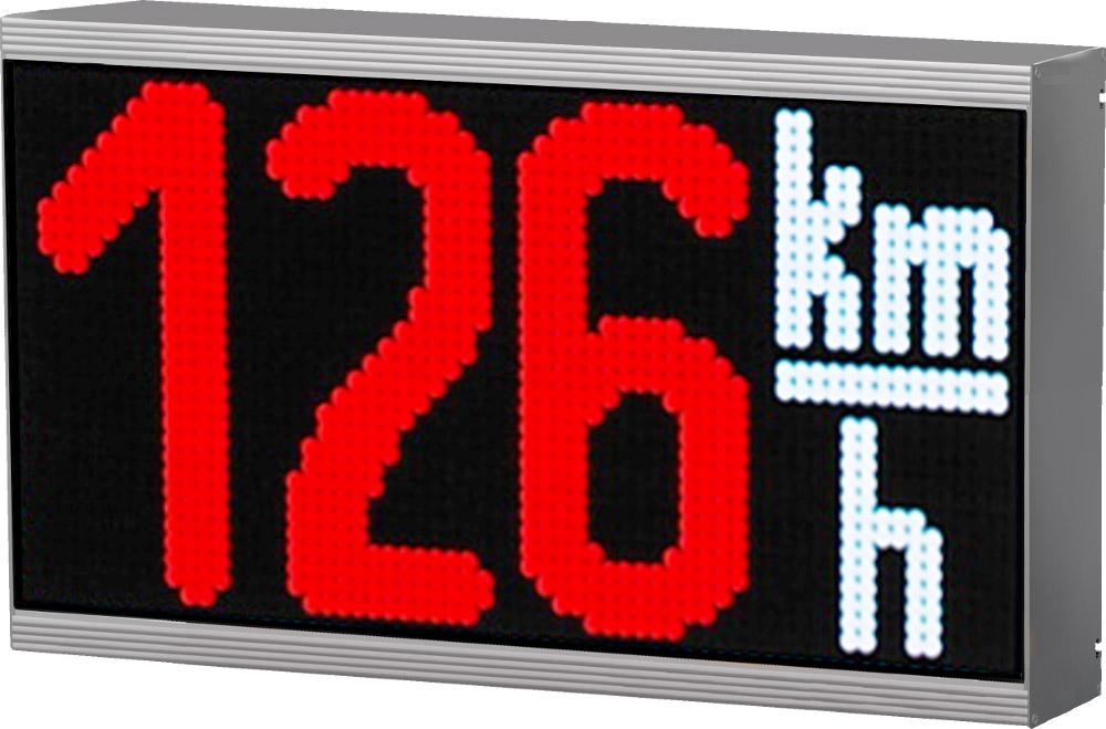 LED-Anzeige mit integriertem Sensor zur Geschwindigkeitsmessung, Outdoor, Zeichenhöhe 180 mm