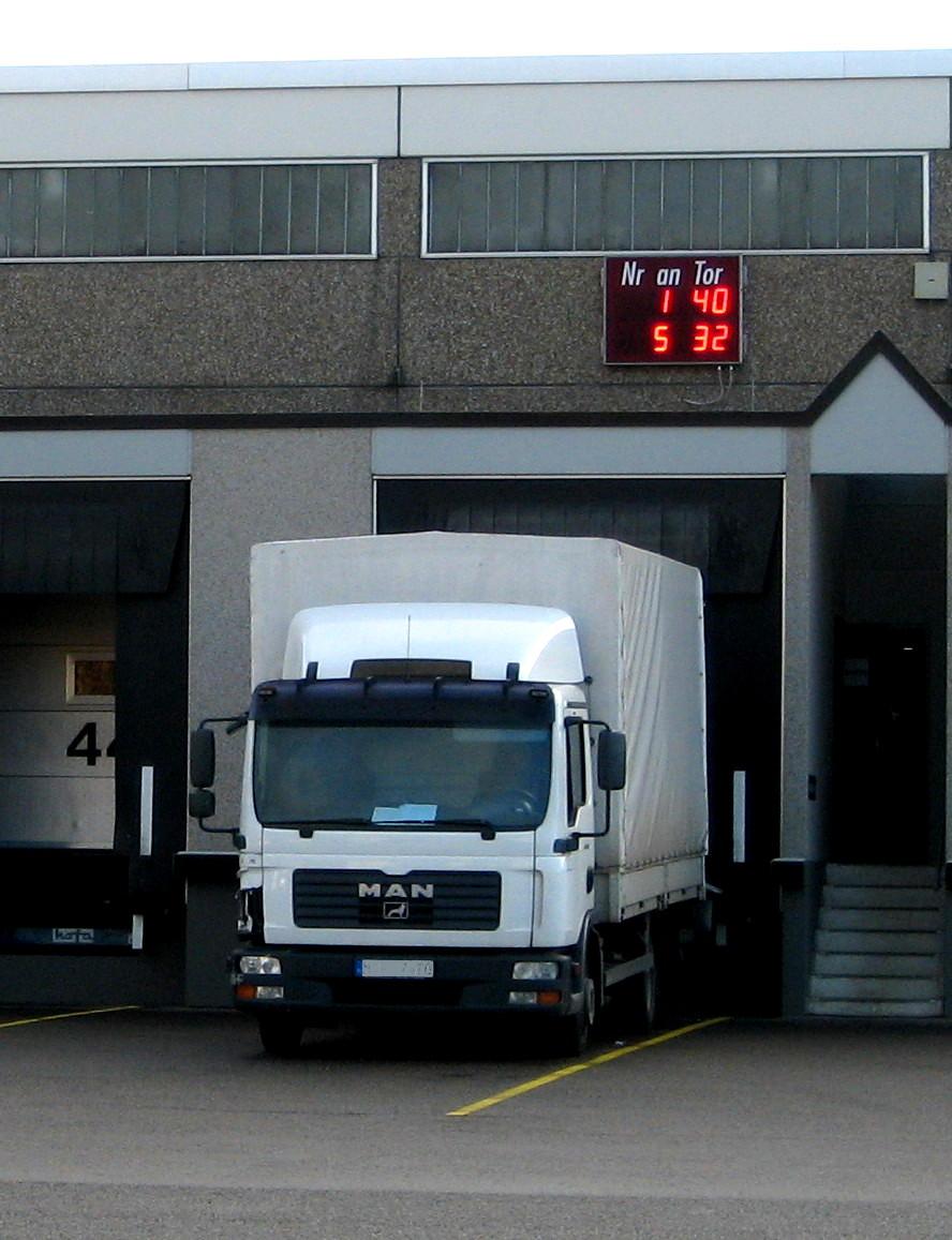 LKW Leitsystem, Outdoor, Zeichenhöhe 200 mm, RS485, Abmessungen 1000x1250x100 mm