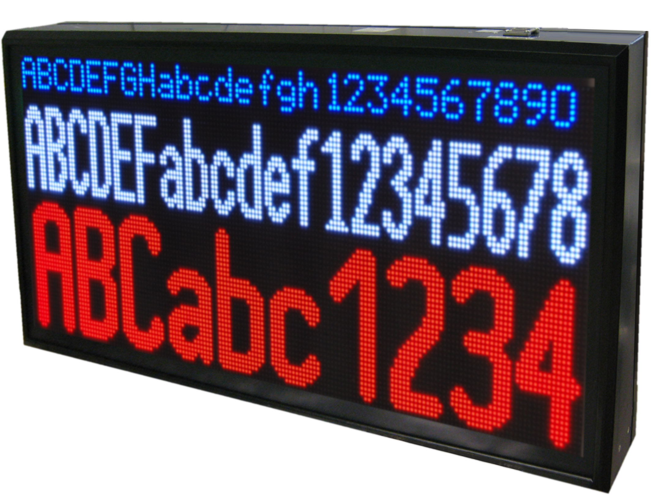 Multi-line alphanumeric large displays, 16 colors, indoor/outdoor, modular design, numerous different sizes available