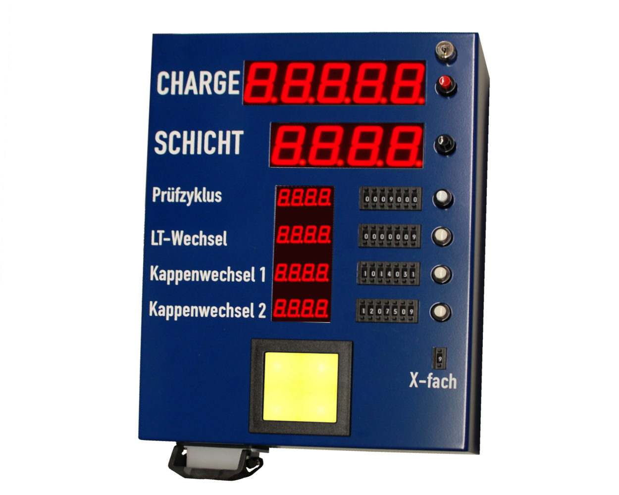 Control panel for production control and production monitoring, automotive industry