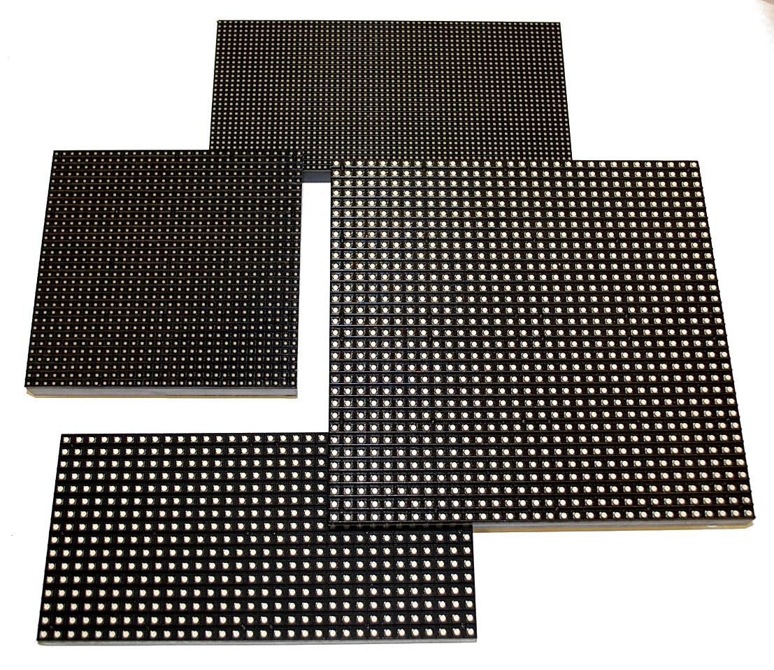 LED-Pixel-Module Indoor/Outdoor: LED-Pixelabstände: 3 bis 20 mm